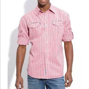 """NWT Robert Graham """"Lugger"""" Shirt Pink Size XL"""